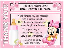 Message For Baby Shower Thank You Cards Baby Shower Thank You Cards Paso Evolist Co