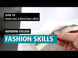 How To Blind Stitch By Hand How To Hand Sew A Blind Hem Stitch Youtube