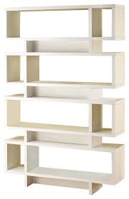 Floating Bookcases Bookcase Contemporary White Corner Bookcase Modern White Gloss