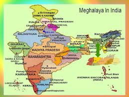India Map Of States by Come And See Map Of Meghalaya In India