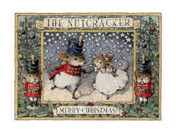 nutcracker note card by wee forest folk