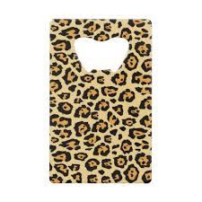 home decor credit cards orange and black leopard print credit card bottle opener credit