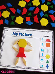 composing shapes in 1st grade pattern block pictures and so many