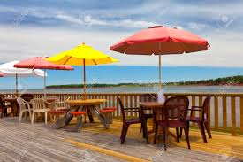 Beach Shade Umbrella Beach Umbrellas And Tables At A Seaside Restaurant Or An Outdoor
