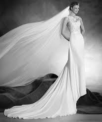 natia tulle crepe and lace wedding dress with bateau neckline