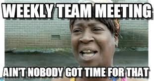 Meme Meeting - weekly team meeting on memegen