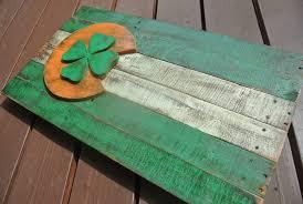Reclaimed Wood Flag Irish Colorado Flag Ireland American Reclaimed Wood