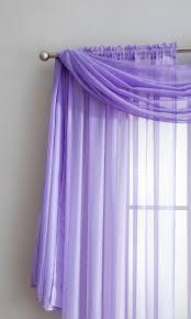 Purple Sheer Curtains Warm Home Designs Lilac Purple Window Scarf Sheer Purple Curtains