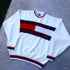 vintage hilfiger sweaters vintage 90 39 s hilfiger knit from vintage6ix on etsy