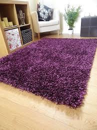Round Rugs Ebay New Small Large Silky Dark Purple Rugs Shaggy Round Sparkle Circle