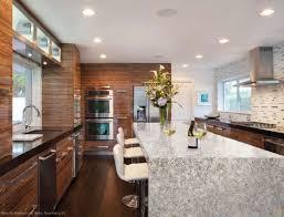 kitchen berwyn waterfall countertops legend interiors shaded oak