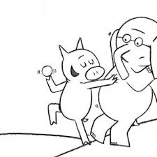 coloring pages elephant and piggie mo willems coloring pages elephant and piggie best of every day is