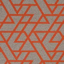 Tangerine Home Decor Orange Geometric Upholstery Fabric Taupe Home Decor Fabrics