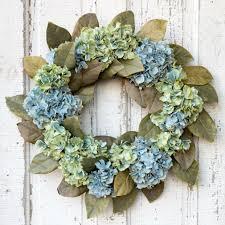 magnolia leaf wreath 24 inch hydrangea and magnolia leaf wreath antique farmhouse