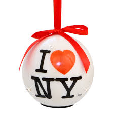 light up i ny ornament from new york city