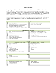 Business Trip Expense Report Template 6 business travel checklist outline templates