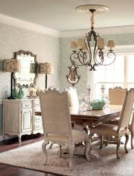 Country Style Dining Room French Country Style Dining Room With Wallpaper And Chandelier And