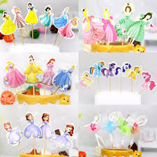 cocktail cartoon 24pcs cocktail umbrella picks princess girls cartoon sticks art