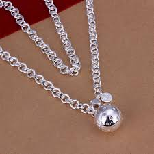 silver ball pendant necklace images Fashion 925 silver ball pendant necklace 925 sterling silver men jpg