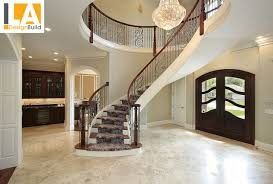 Living Room With Stairs Design Living Room Mediterranean Staircase Los Angeles By La