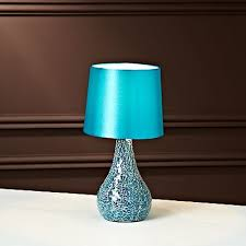 small teal mosaic table lamp home pinterest mosaics