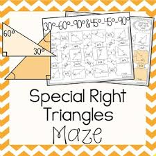 special right triangles maze by amazing mathematics tpt