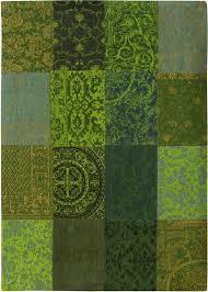 luxuruious louis de poortere green rugs