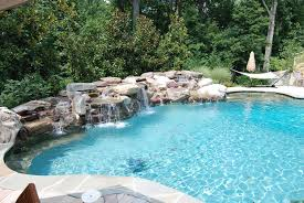 Tropical Backyard Designs Best Tropical Backyard Swimming Pool And Spa Waterfall Design