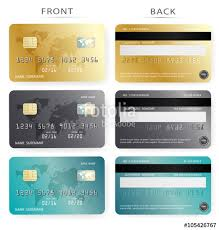 free debit cards vector set gold and blue credit debit card design template