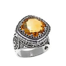 ottoman silver jewelry collection 5 2ct cushion cut citrine ring