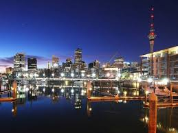 Cityscape Wallpaper by Auckland City New Zealand Nightlife Viaduct Harbour At Night