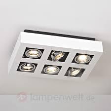 Wohnzimmer Lampe 6 Flammig 6 Flammige Led Deckenlampe Vince In Weiß Jetzt Kaufen