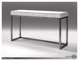 White High Gloss Computer Desk by Palco Sofa Table With High Gloss In White Brushed Stainless Steel
