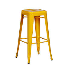 Bar Stools Miami Amazon Com Joveco 30 Inches Yellow Sheet Metal Frame Tolix Style