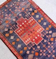 blue salvage vintage rugs and handmade bohemian home decor