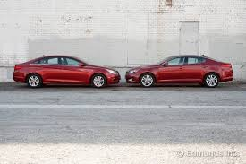 hyundai elantra vs sonata 2013 2011 hyundai sonata vs 2011 kia optima comparison test