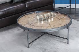 Clock Coffee Table Cole Grey Metal Wood Clock Coffee Table Reviews Wayfair