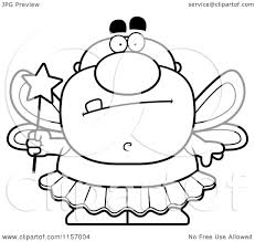 cartoon clipart of a black and white tooth fairy man vector