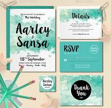 21 watercolor wedding invitations free premium templates