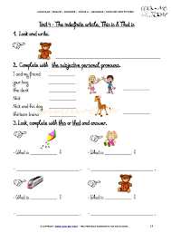 exercises with pictures demonstrative pronouns 3