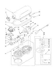 entrancing 10 kitchenaid k45ss parts decorating design of parts