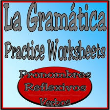 reflexive pronoun worksheet practice los pronombres reflexivos