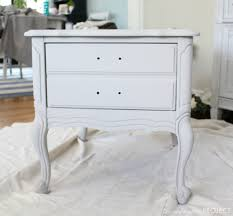 folk art home decor chalk paint french provincial nightstand makeover the unfinished project