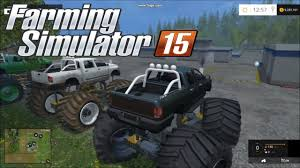 monster trucks video farming simulator 2015 diesel monster truck youtube