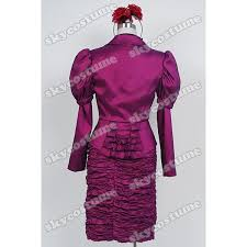 Effie Halloween Costume Aliexpress Buy Hunger Games Effie Trinket Purple Uniform