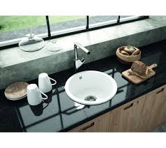 Metro By Thoms Denby MET  Bowl Round Ceramic Sink - Round sinks kitchen