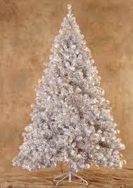 6 5 silver laser tinsel artificial tree