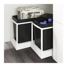 Kitchen Recycling Bins For Cabinets Utrusta Pull Out Recycling Bin Tray Trays Kitchens And Sinks
