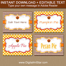 thanksgiving labels thanksgiving food labels thanksgiving place cards digital