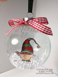 karen u0027s kraft room embossed clear christmas tree ornament colored